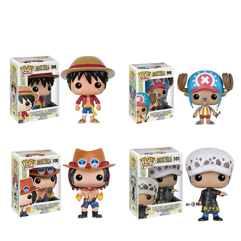 Funko POP One Piece Anime Luffy Chopper Ace Action Figure , One Piece Luffy Figure Toy For Collection, Brinquedos, Kids Toys<br><br>Aliexpress
