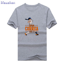 New 2017 Carlos Correa Astros T-shirt 100% Cotton for houston Graphic Fan T Shirt 0902-6