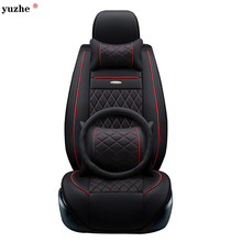 Yuzhe leather car seat cover For Toyota Honda Nissan Mazda Lexus Jeep Subaru Mitsubishi Suzuki Kia Hyundai Ssangyong accessories(China)
