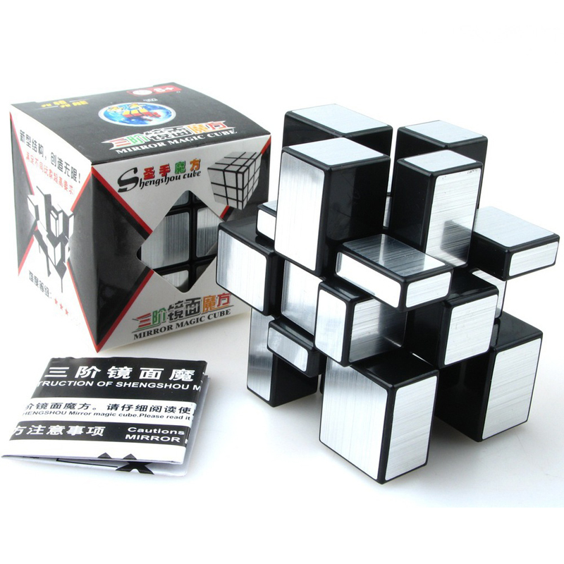 ShengShou Brushed Cast Coated Mirror Blocks Magic Cube 3x3x3 Puzzle Mirror Cubes Educational Cubo magico kub Juguetes toys(China)