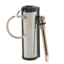 1 pc Stainless Steel Permanent Survival Camping Emergency Fire Starter Flint Match Lighter With KeyChain Free Shipping