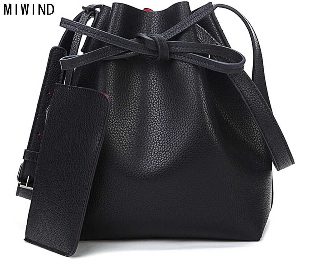 MIWIND Fashion 2017 candy color fashion all-match bucket bag  pu leather one shoulder cross-body womens handbags<br><br>Aliexpress