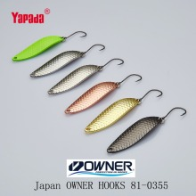YAPADA Spoon 013 Loong Claw OWNER HOOK 2g/3g/5g 32-38-45mm Multicolor 6piece/lot Metal Small Spoon Fishing Lures(China)