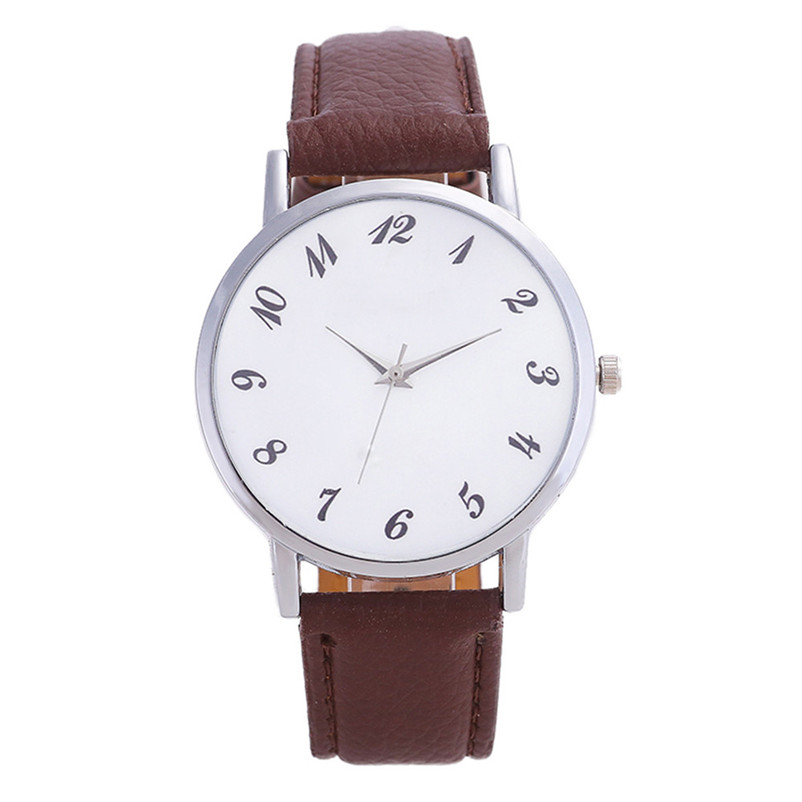 2018 High Quality women fashion casual watch luxury dress Beautiful Fashion Simple Watch Leather band Watch Reloj mujer J06#N (2)
