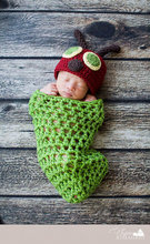 Crochet Pattern Baby Beanie Hat with Cocoon Set Infant Newborn Photography Props Costume