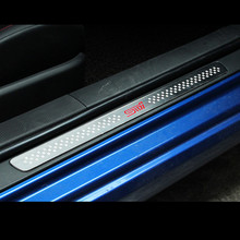 2pcs car door sill door plate For BRZ STI TOYOTA 86 TRD Steel Alloy Door Sill Plates Emblem Badgs car styling(China)