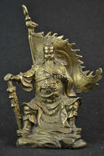 Free shipping chinese handwork copper carving three kingdoms dynasty warrior guanyu statue