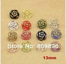 Candy color Rose design sewing button, 13mm bulk buttons,sewing accessories,Resin Buttons wholesale(SS-3020)