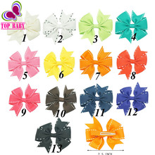 "2.5"" New Product Ribbon Pinwheel Hair Bow Sweet Hairgrips For Kid Girls Handmade Boutique Hair Accessories"