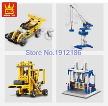 Wange Power Machinery 4in1 Building Blocks Learning Education Educational Toys Electric Motor Car Brick Compatible lepin Technic