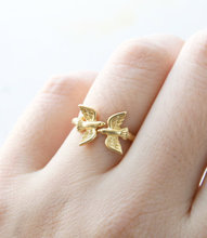 Famous Statement Branch Bird Ring Love Birds Ring Free Size Ring Christmas Minimalist Dainty Jewelry Fashion For women girls(China)