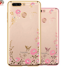 Buy Huawei Honor 8 Pro Case Glitter Flower Silicon Bling Diamond Clear Cover Huawei Honor V9 Phone Cases Soft TPU Capa 5.7 for $1.89 in AliExpress store