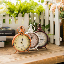 Europe Vintage Craft Metal Iron Alarm Clock Ornaments Clock Crafts Furnishing  Home Decoration Articles Craft Clock Christmas