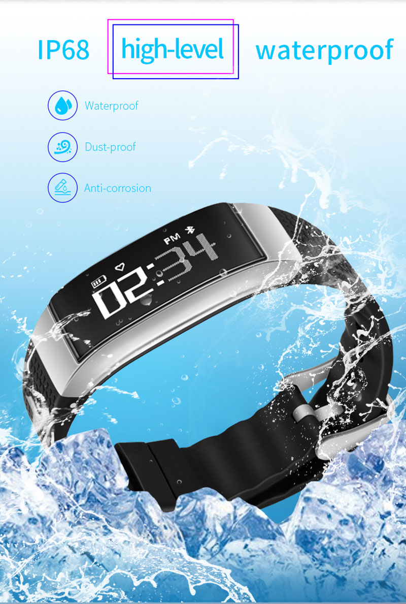 Volemer DB07 Smart Band IP68 waterproof Fitness Bracelet ECG Blood pressure Heart rate tracker Smart Wristband for IOS Android