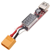 High Quality XT60 2S-6S Lipo Battery to USB Power Converter Adapter Digital Display 5V 1A(China)