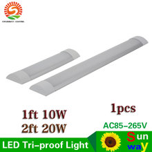 LED Tri-Proof Light Batten Tube Explosion Proof Tube 1ft 2ft LED Tube Lights Replace Fluorescent Light Fixture Ceiling 10W 20W(China)