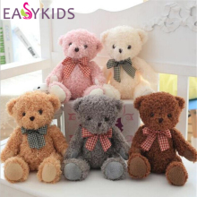 Lovely 20cm Teddy Bear Bow Dolls Stuffed Animals Plush Toys Teddy Bear Sleeping dolls birthday Christmas Gift for Kids