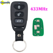 Keyless Entry transmitter 3 Buttons Smart Remote control Key fob 433MHz for Hyundai SONATA(China)