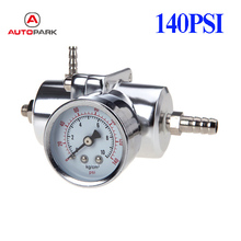Professional Car Adjustable 140PSI Fuel Pressure Gauge Regulator Adapter with Gauge Silver New Arrival Car Tool Accessories