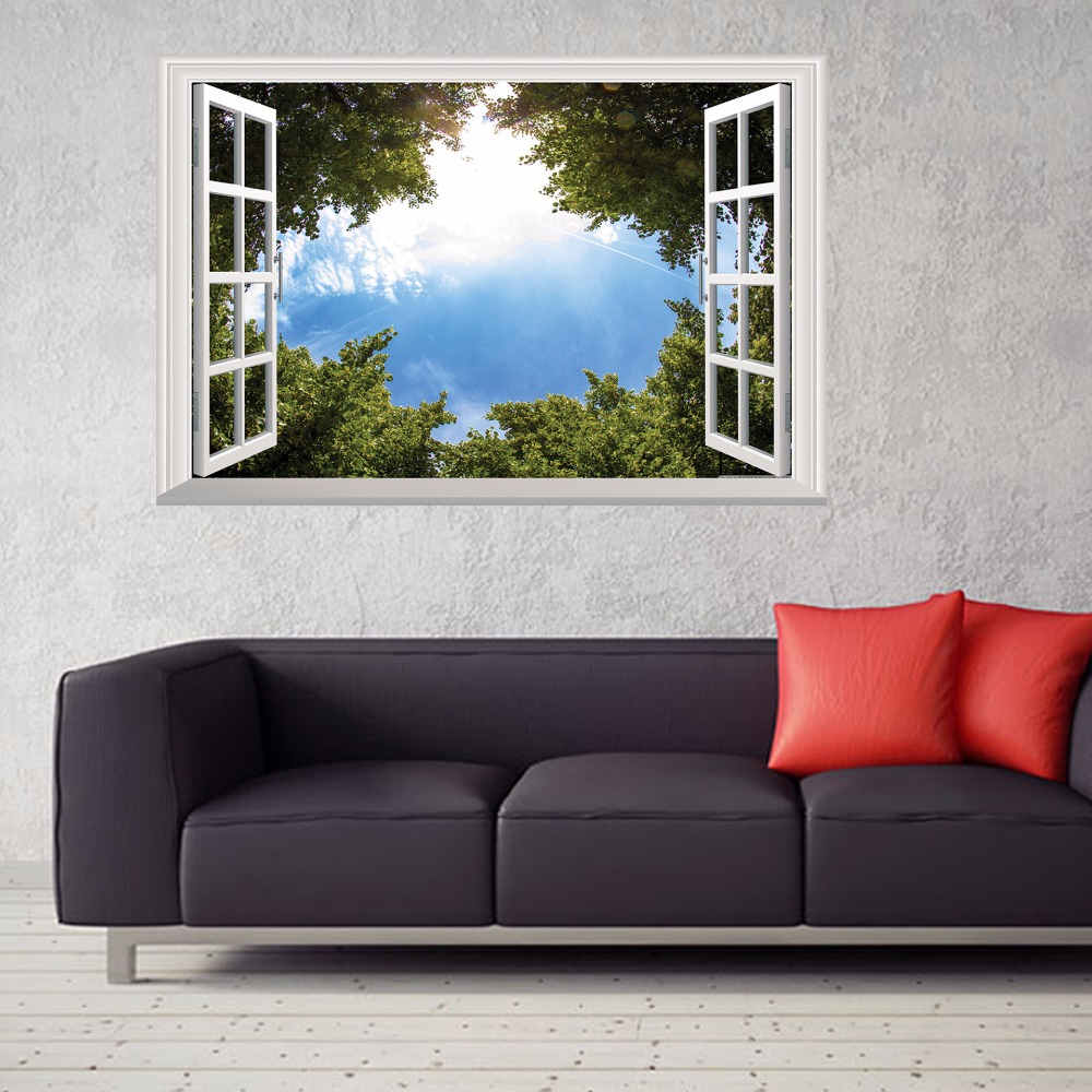 Removable 3D Window View Wall Sticker Vinyl Art Room Decal Mural Home Decoration