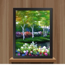 2016 DIY Frame Painting landscape style Pictures Wall Decoration Art Oil Painting canvas with Frame Home Decor DP001