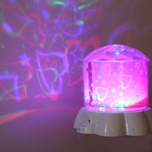 2017 2 PCS LED Stage Star Projector Rotating Light Sky Starry Lamp Holiday led Lamps Stage Effect Lighting Hot Free Shipping