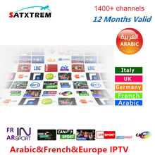 SATXTREM 6/12 Months 1400+ Live TV IPTV M3U ENIGAM2 Androd IPTV ITALY German French Spain TR UK IT MEDIASET PREMIUM For TV BOX