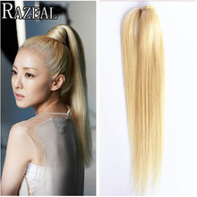Razeal Hair 18Inch Long Ponytail Hair Extension Straight Hair with Clips Ponytail Hairpieces Pony Tail Braids Natural Hair