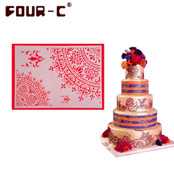 Newest cake stencils fondant cake border decorating stencils tools party wedding cake DIY decor tools 34 kinds to be selected