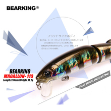 Retail Bearking 2017 hot model fishing lures hard bait 113mm 13.7g minnow equiped quality professional black or white hooks(China)