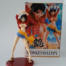 One Piece Action Figure POP Luffy Girl Version PVC 210mm One Piece Anime Model Toys Girl Luffy Sexty Onepiece-Action-Figures