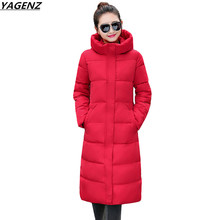 Hot Sale Winter Coat 2017 NEW Women Parkas Long Outerwear Fashion Slim Female Clothing Plus Size M-2XL Thick Jackets YAGENZ K644(China)