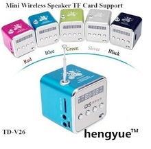 TD-V26 Portable Mini Digital Speaker soundbox boombox for MP3 MP4 PC,Support Radio, USB, TF/SD Card Free Shipping