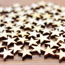Miniature Figurine Wooden Stars Shape Home decoration fairy garden animal Building Accessory statue Shooting tool TNB120(China)