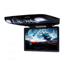 "15.6"" Car Roof Monitor Ceiling DVD Player Auto Overhead 16:9 Wide Screen Speaker IR FM USB SD 32 Bits Game AUX In AV Out Video"