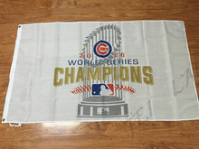 Chicago Cubs Flag 2016 World Series Champions Flag 3ft x 5ft Polyester Banner Flying 150* 90cm Custom flag outdoor