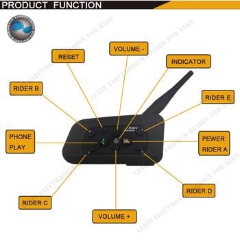 En gros 1200 M Bluetooth casque Intercom Moto sans fil BT interphone jusqu'à 6 Coureurs casque intercomunicadores de motos
