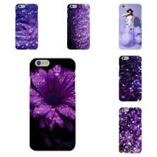 Lovely Purple Glitter Soft TPU Silicon Accessories Case For Apple iPhone 4 4S 5 5C SE 6 6S 7 7S Plus 4.7 5.5