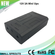 2017 hot sale online DC 12v mini ups for router cctv camera 24W backup power source supply 2-10 hours