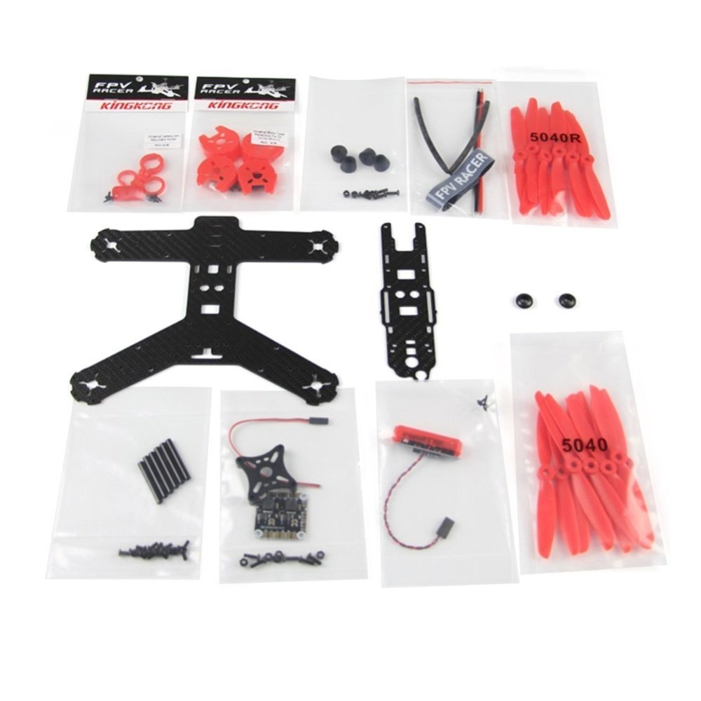 210GT 210MM KIT Carbon Fiber Frame Kit for High Strength KINGKONG RC Racing Drone Quadcopter Aircraft F19955/6<br>