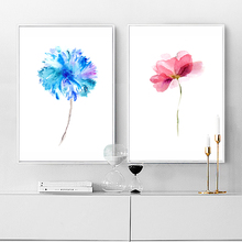 Modern Watercolor Beautiful Plant Floral Flower Rose A4 Canvas Art Print Nordic Posters Wall Picture Home Decor Canvas Painting