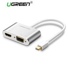 Ugreen 2 in 1 Thunderbolt Mini Displayport DP to HDMI VGA Adapter Cable 4K 1080P Mini DP Converter for Macbook Air Microsurface(China)