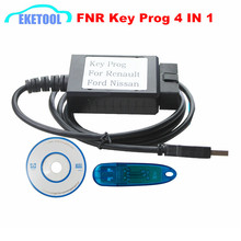 High Performance FNR Key Prog 4 IN 1 For Ford/Nissan/Renault Key Programmer With USB Dongle Key Pro 4-IN-1 Incode Calculator(China)