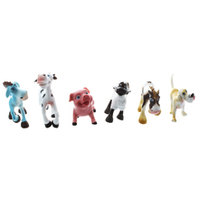 ABWE Best Sale  6 New Hard Plastic Cartoon Farm Animals Figures Set Toy Kid Children