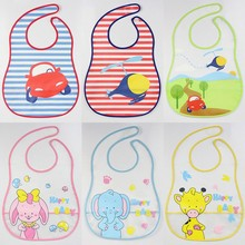 Baby EVA Waterproof Disposable Bibs Cartoon Pattern  Transparent Boys Girls Infants Soft Bibs Burp Clothes Baby Food Clothing