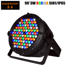 Gigertop 10 Unit 90pcs 3W RGBWY Outdoor Led Par Cans 25 Degree Lens Wide Wall Washing Effect Good Heat Dissipation CE ROHS