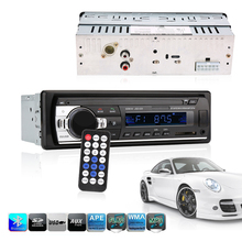Single Din Car Stereo Audio 12V Bluetooth V2.0 In-dash FM Receiver Aux Input Receiver USB MP3 MMC WMA FLAC Car Radio Player(China)