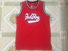 2017 New Notorious B.I.G. Biggie Smalls 72 Bad Boy Basketball Jersey Doule Stitched Sewn-Red Cheap Shirt(China)