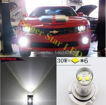 2x 5202 H16 PSX24W 6000K  For  Cree  Chips LED Fog  Lamp DRL Lights Bulbs For  GMC Chevy  Sierra Pickup HD Denali Acadia