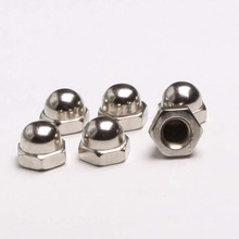 2PCS 304 Stainless Steel Cap Nuts Cap Nut Decorative Nut M10 GB923